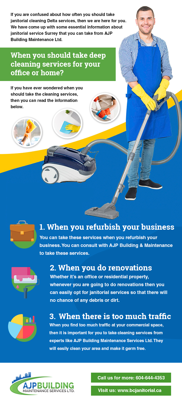 When You Should Take Deep Cleaning Services For Your Office Or Home?